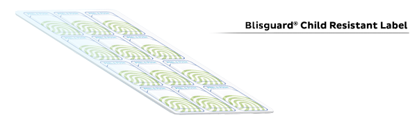 Blisguard Child Resistant Label